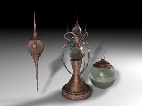 frontier ornaments 3d model