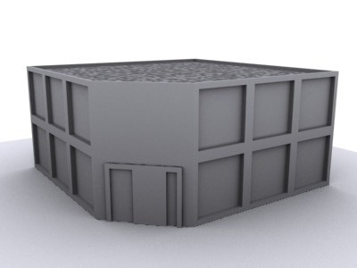 store building city 3d model
