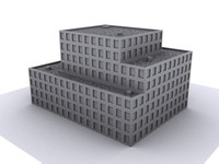3d building city model