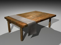 Old Wooden Table.max
