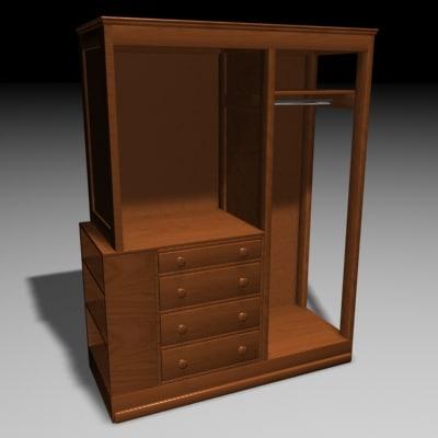 3ds max dresser bedroom furniture