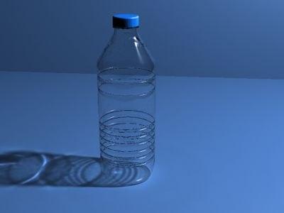 mineral water bottle m 3d model