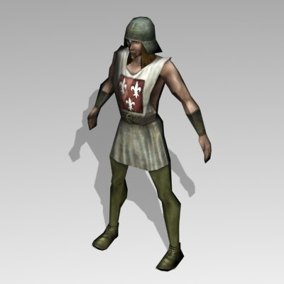 3d model bowman medieval