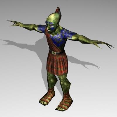 goblin fantasy 3d model