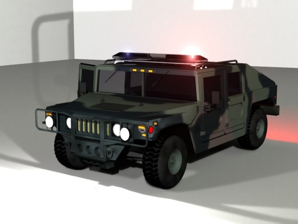 3d model resolution hummer military