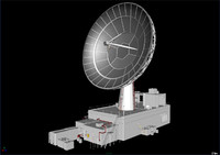 satellite dish antenna wireless 3d model