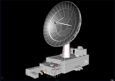 satellite dish antenna wireless 3d model