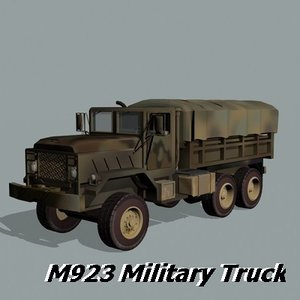 3d m923 military truck transport model