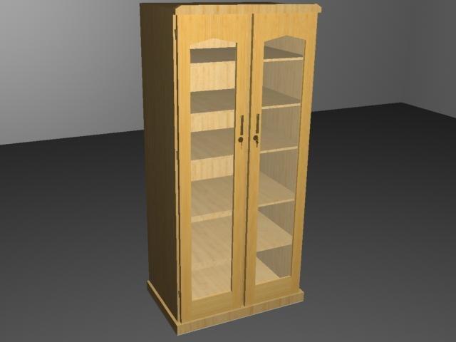 3d book shelf model