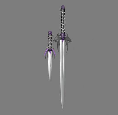 sword dagger 3d x
