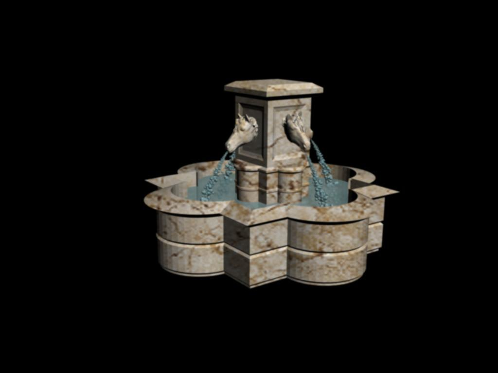 3d model of fountain