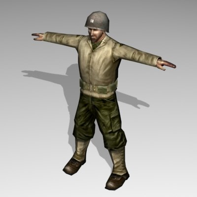 human military soldier 3ds