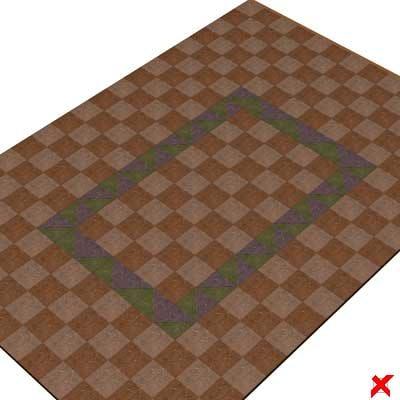 3d floor parquet tile model