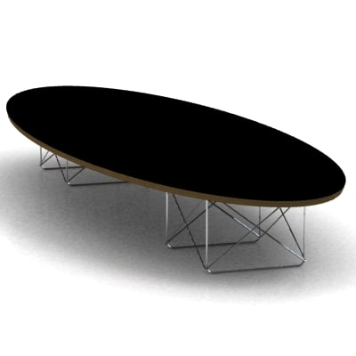 3d eames elliptical table model