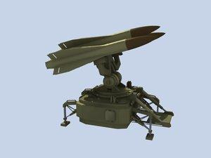 3d hawk air missile model