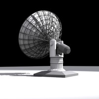 satellite dish telescope 3d model