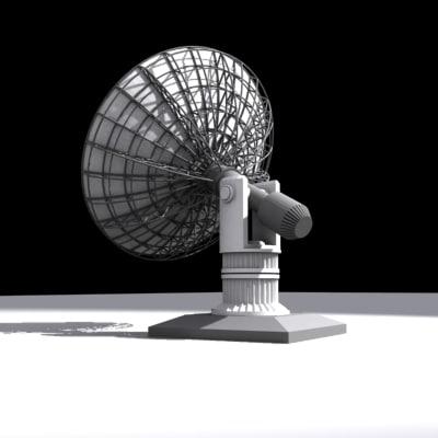 satellite dish telescope 3d model