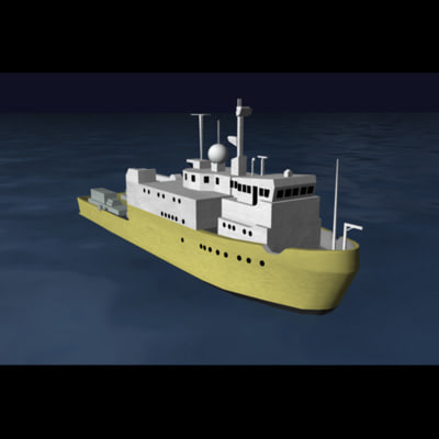 seaway defender deep sea 3d model