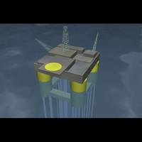 ursa oil drilling rig 3d model