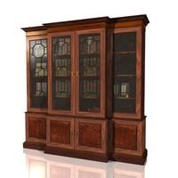 3d model antique bookcase