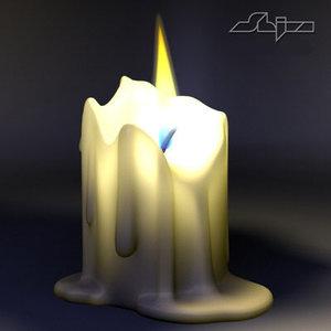 photorealistic flame 3d model