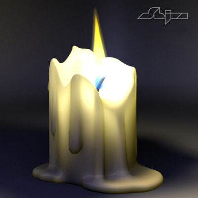 photorealistic flame 3d model