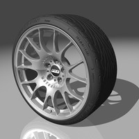 3d bbs ch wheel model