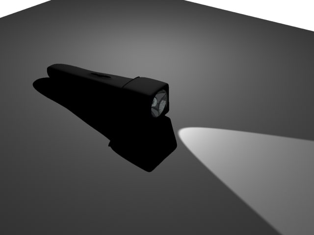 3d flashlight model