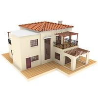3d model villa 1