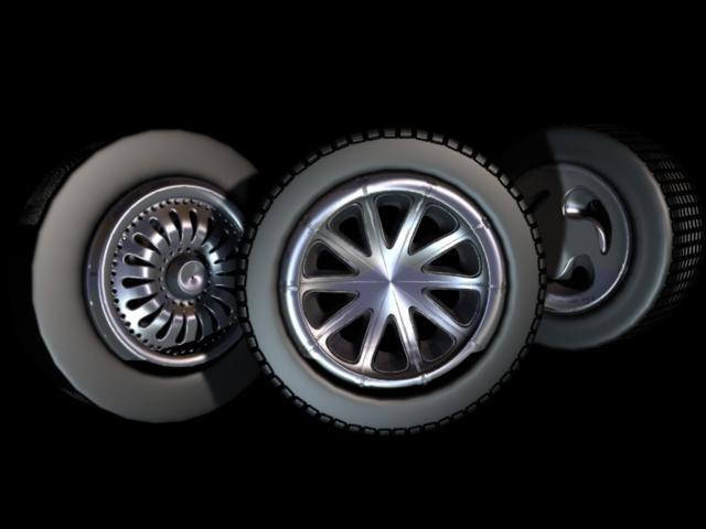wheel tires 3d ma