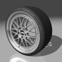 bbs lm wheels tires 3d model
