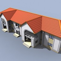 3d block flats tropical model