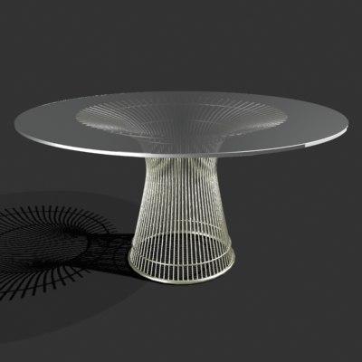 3dsmax dining table platner