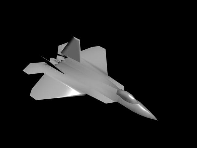 free f-22 3d model