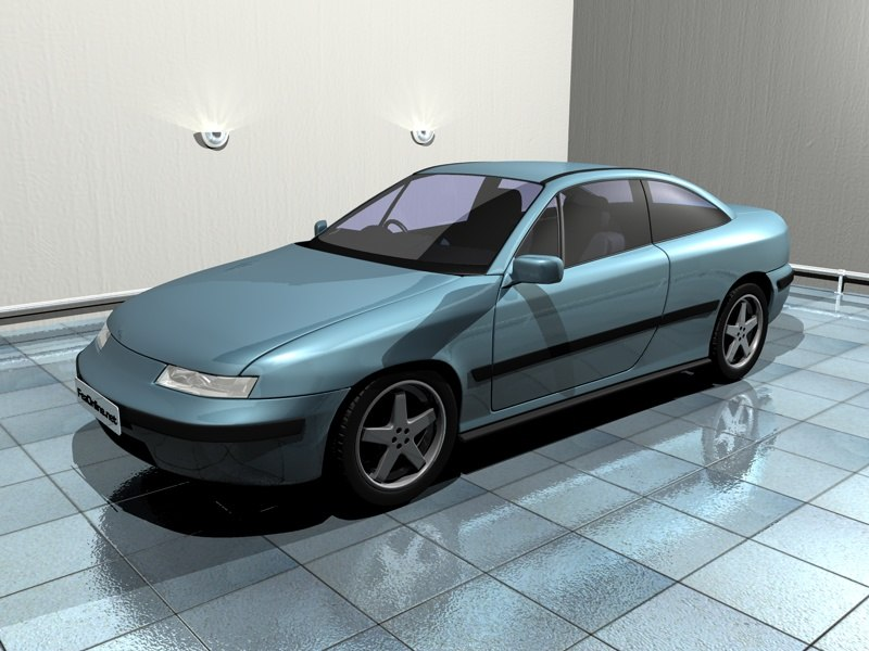 vauxhall calibra 3d model