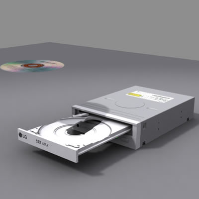 cd-rom drive cd cdrom 3d max
