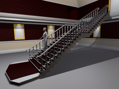 3d stairs stairwell staircase