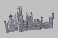 3d model of castle fantasy