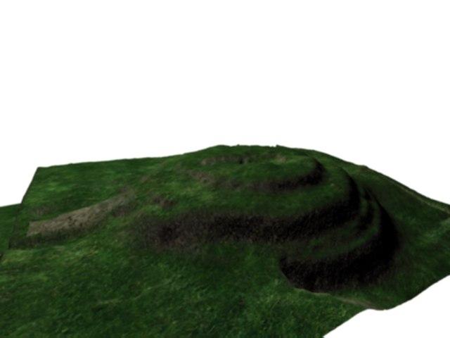 3d model pyramid ruins cuicuilco mexico