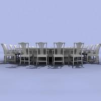 executive table 3d model