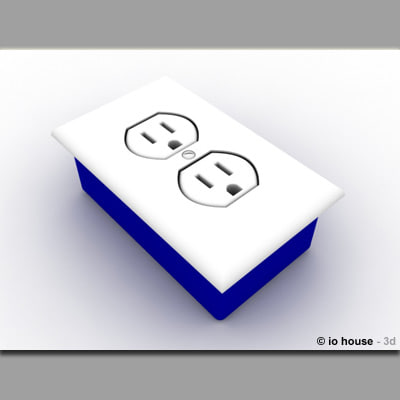 free 3ds model wall outlet