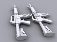 3d model m4a1 carbine