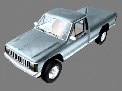 3ds max jeep cherokee pickup