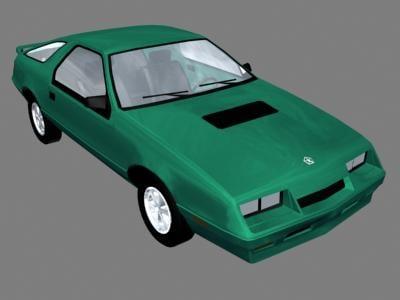 chrysler car 3d model