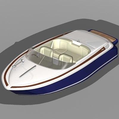 craft boat 3d model