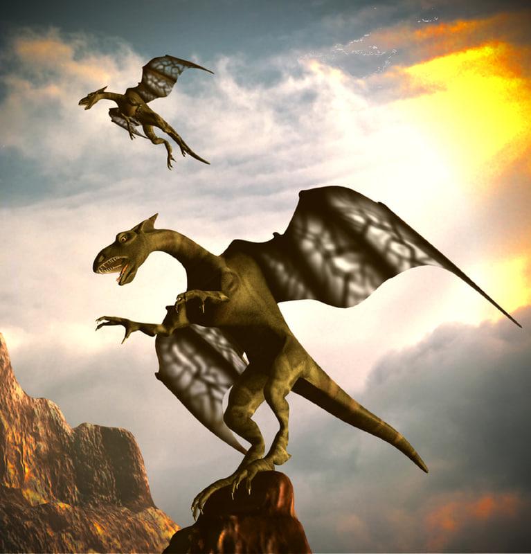 lightwave dragons winged
