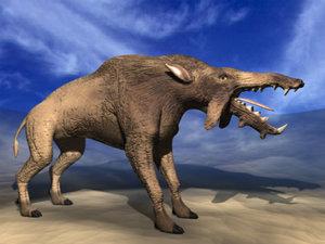 dinohyus pig mammal 3d model
