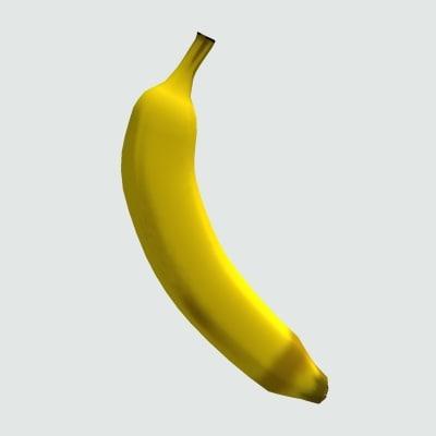 3dsmax banana fruit
