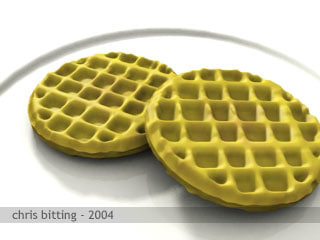 simply just waffle 3d model