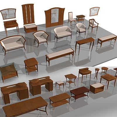 furniture rooms leaving 3d model